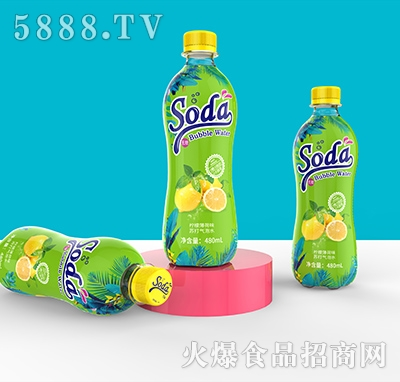 soda柠檬薄荷味苏打气泡水480ml