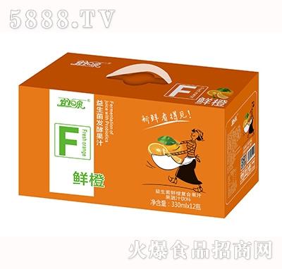 宜泉益生菌鲜橙复合果汁饮料330mlx12瓶