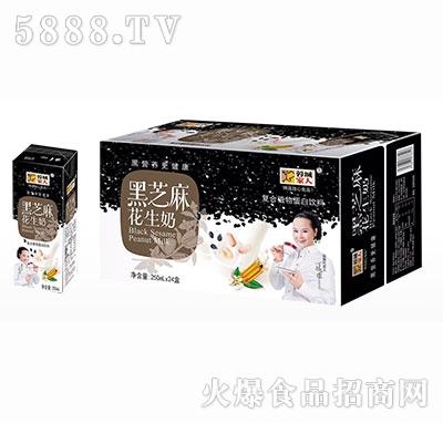 蓉城家人黑芝麻花生奶复合植物蛋白饮料250ml×24箱装