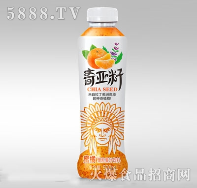 维果命奇亚籽蜜橘果粒复合果汁饮料500ml
