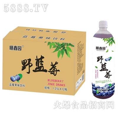 膳鑫园野蓝莓果汁饮料1.25Lx12