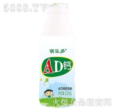 萌乐多AD钙奶饮料220ml产品图