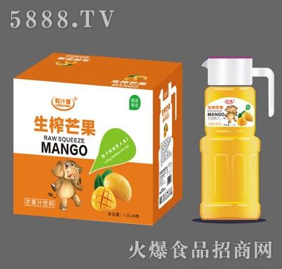 粒汁健生榨芒果汁1.5LX6