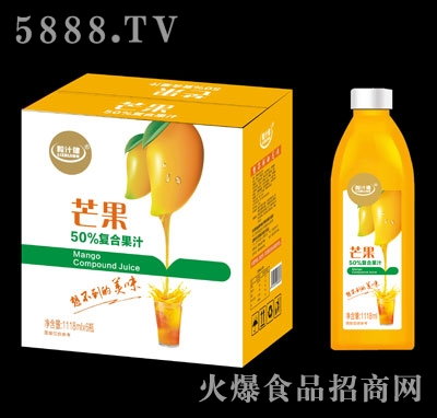 粒汁健芒果50%复合果汁1118mlX6