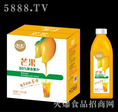 粒汁健芒果80%复合果汁1118mlX6