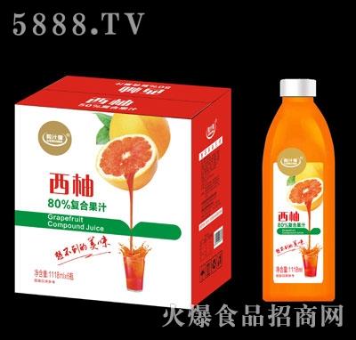 粒汁健西柚80%复合果汁1118mlX6