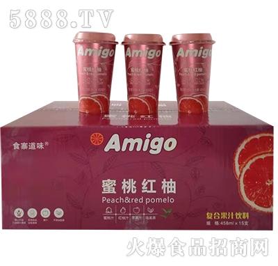 食寨道味蜜桃红柚复合果汁458mlx15