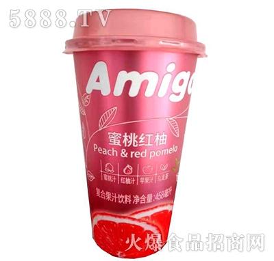 食寨道味蜜桃红柚复合果汁458ml