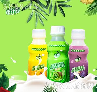椰汁岛益生菌发酵果汁340ml