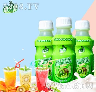 椰汁岛益生菌发酵猕猴桃味果汁340ml