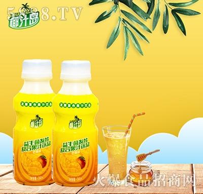 椰汁岛益生菌发酵芒果味果汁340ml