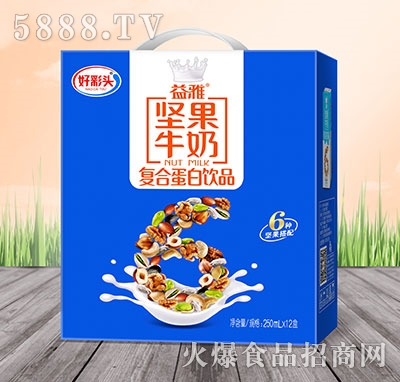 好彩头益雅坚果牛奶复合蛋白饮料250mlx12盒