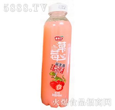 哥斯拉草莓益生菌果汁饮料488ml