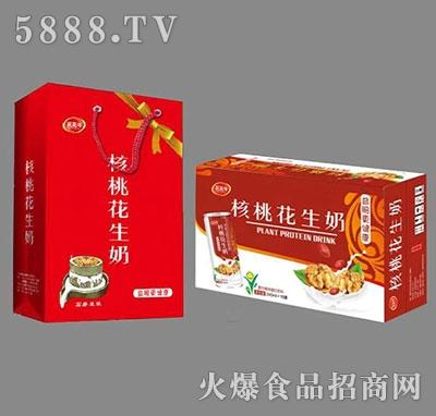 核桃花生奶植物蛋白饮料礼盒装