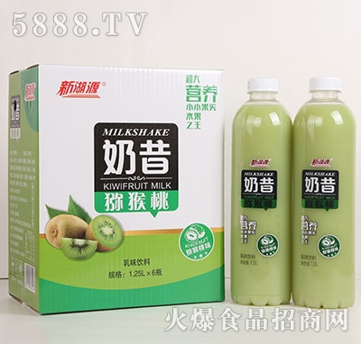 新湖源奶昔猕猴桃奶1.25Lx6瓶
