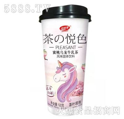 佳因美122克蜜桃乌龙牛乳茶