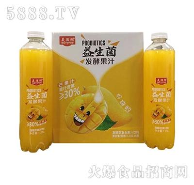 美滋湖益生菌芒果汁1.25Lx6瓶