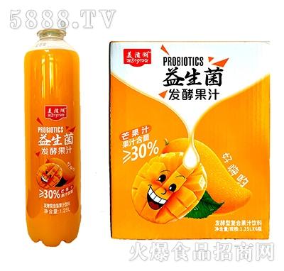 美滋湖益生菌发酵型复合芒果汁饮料1.25L