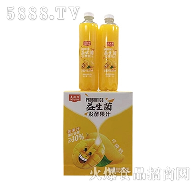美滋湖益生菌芒果汁饮料1.25Lx6瓶