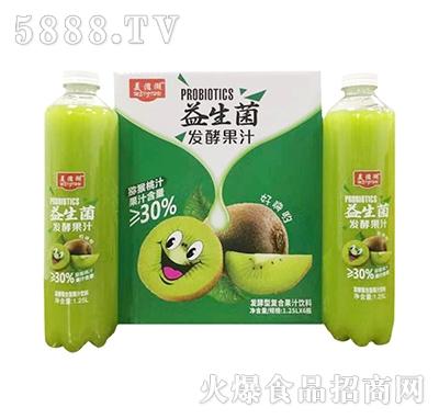 美滋湖益生菌猕猴桃汁1.25Lx6瓶