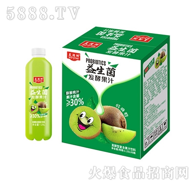 美滋湖益生菌发酵型复合猕猴桃汁1.25L