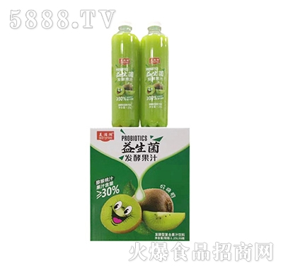 美滋湖益生菌猕猴桃汁饮料1.25Lx6瓶