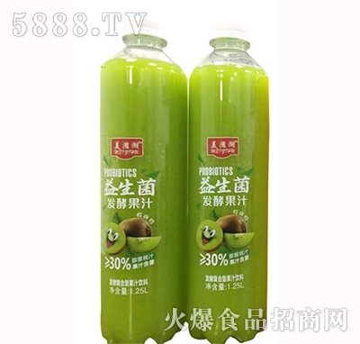 美滋湖益生菌发酵猕猴桃汁1.25L