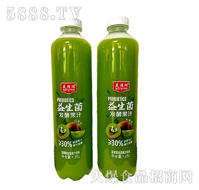 美滋湖益生菌发酵猕猴桃汁饮料1.25L
