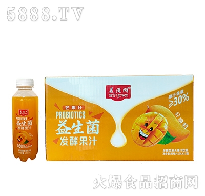 美滋湖益生菌发酵芒果汁428mlx15瓶
