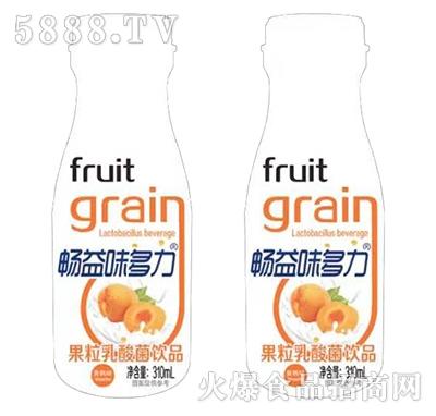 畅益味多力果粒乳酸菌黄桃味310ml产品图