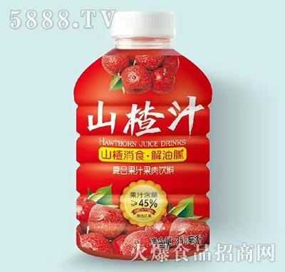 山楂汁果汁果肉饮料350ml