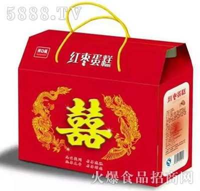 开口福红枣蛋糕手提礼盒