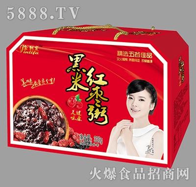 金利发黑米红枣粥礼盒产品图
