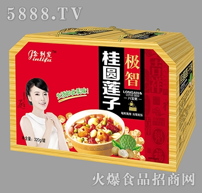 金利发桂圆莲子粥礼盒产品图