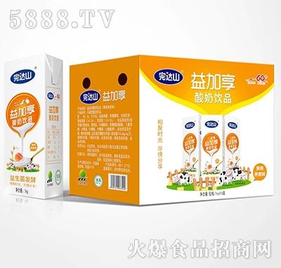 完达山益加享酸奶黄桃燕麦味1kgx6盒