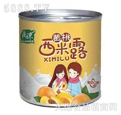 康运来约吗黄桃西米露酸奶口味罐头312g产品图