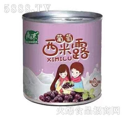 康运来约吗葡萄西米露酸奶口味罐头312g
