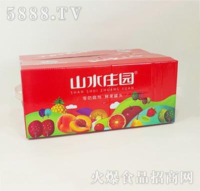山水庄园水果罐头箱子