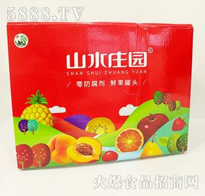 山水庄园水果罐头箱装