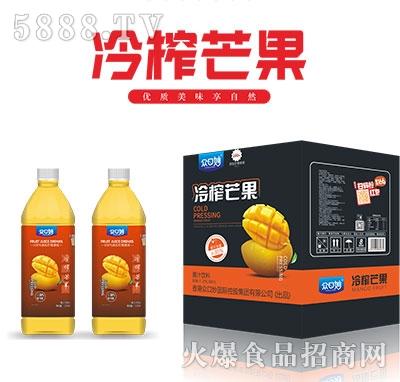 众口妙冷榨芒果果汁饮料1.25L×6瓶
