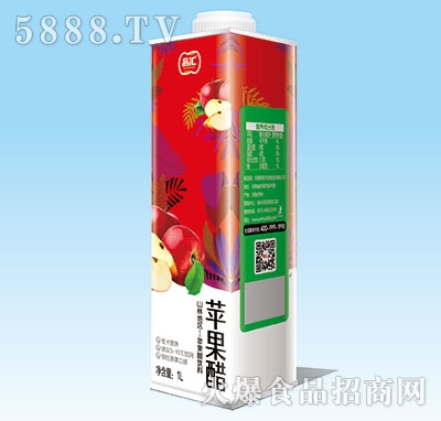 品汇苹果醋1L盒装