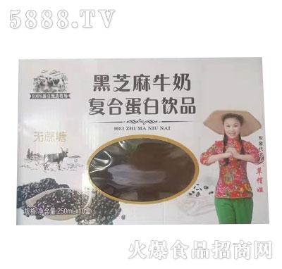黑芝麻牛奶复合蛋白饮品