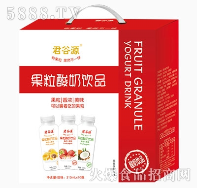 君谷源果粒酸奶饮品310ml×10瓶