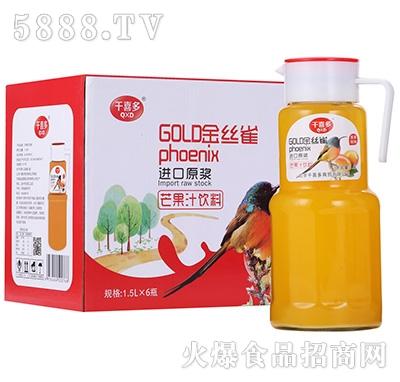 千喜多芒果汁饮料1.5LX6