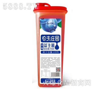农夫庄园益生菌蓝莓复合果汁饮料