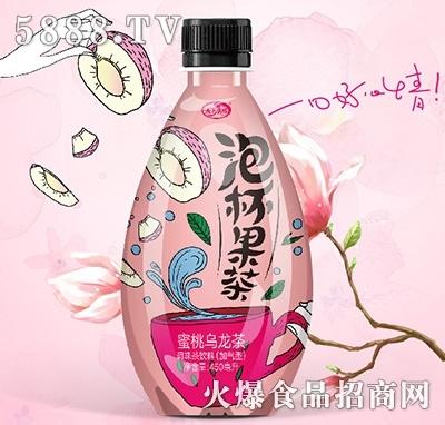泡杯果茶蜜桃乌龙茶饮料450ml