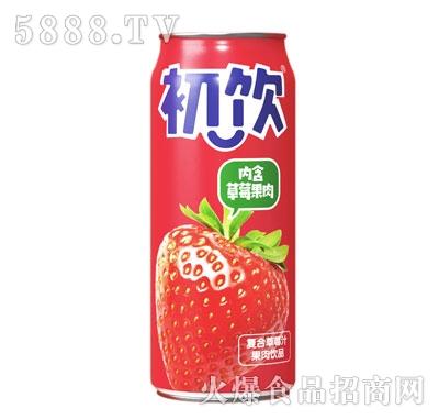 初饮500g复合草莓汁果肉饮品
