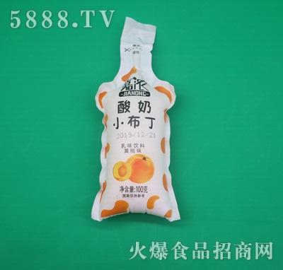 嘉浓酸奶小布丁乳味饮料黄桃味100克
