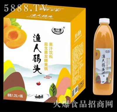 粒汁健益生菌发酵黄桃汁1.25LX6