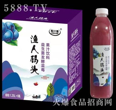 粒汁健益生菌发酵蓝莓汁1.25LX6